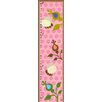 Green Leaf Art Bees on Background Growth Chart