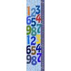 Green Leaf Art Colorful Numbers on Background Growth Chart