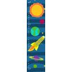 Green Leaf Art Sun and Plants with Spaceship Growth Chart
