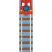 Green Leaf Art Red Train with Rail Growth Chart