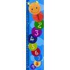 Green Leaf Art Colorful Worm on Background Growth Chart