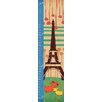 Green Leaf Art Dogs and Eiffel Tower Brown Shape Growth Chart