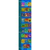 Green Leaf Art Alphabet of Animals on Background Growth Chart