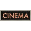 Green Leaf Art Cinema Sign Framed Graphic Art