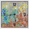 "Green Leaf Art Party Circles 11"" Art Wall Clock"