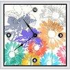 "Green Leaf Art Spring Floral Shapes 16"" Art Wall Clock"