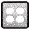 Brainerd Diamond Plate Wp Double Duplex Wall Plate