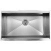 "Ukinox 32"" x 18.5"" Zero Radius Single Bowl Kitchen Sink"