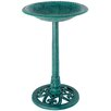 Pedestal Birdbath - Color: Verdigris - World Source Partners Bird Baths
