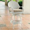 "South Sea Rattan Bahia 24"" Bar Stool with Cushion"