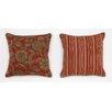 South Sea Rattan Cabana Life Luxe Veranda Throw Pillow