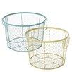 CBK 2-Piece Colorful Wire Basket Set