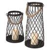 CBK 2-Piece Pillar Wire Lantern Set