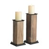 CBK 2-Piece Wood Candlestick Set (Set of 4)