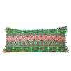 CBK Darcia Embroidered Cotton Lumbar Pillow (Set of 2)
