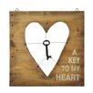 CBK A Key To My Heart Wall Decor (Set of 2)