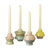 CBK Bloom 4 Piece Ceramic Candlestick Set (Set of 4)