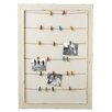 CBK Home Away Framed Message Board with Colored Clothespins