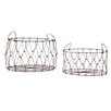 CBK Heartland 2 Piece Collapsible Oval Basket Set (Set of 2)