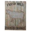 "CBK Heartland ""Fresh Milk, Farmers Market"" Slat Wall Décor"