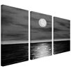 "ArtWall ""Moon Rising"" by Jim Morana 3 Piece Graphic Art on Canvas Set"