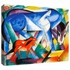ArtWall 'The First Animals' by Franz Marc Painting Print on Wrapped Canvas