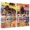 ArtWall Golden Harbour Vista by Peter Graham 2 Piece Painting Print on Wrapped Canvas Set