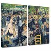 ArtWall 'Ball at the Moulin de la Galette' by Pierre Renoir 2 Piece Painting Print on Wrapped Canvas Set