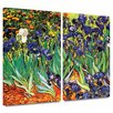 ArtWall Irises In The Garden by Vincent Van Gogh 2 Piece  Painting Print on Wrapped Canvas Set