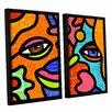 ArtWall Flower Market by Steven Scott 2 Piece Framed Graphic Art on Canvas Set