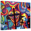 ArtWall Crosses To Bear by Marina Petro Painting Print on Wrapped Canvas