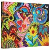 ArtWall Hearts And Flowers by Marina Petro Painting Print on Wrapped Canvas