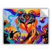 ArtWall ArtApeelz Karmic Lovers by Marina Petro Painting Print on Canvas