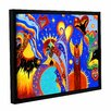 ArtWall Angel Fire by Marina Petro Floater Framed Painting Print on Gallery Wrapped Canvas