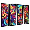 ArtWall Birth by Marina Petro 4 Piece Framed Painting Print on Wrapped Canvas Set