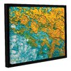ArtWall Summer Breeze by Byron May Floater Framed Painting Print on Wrapped Canvas