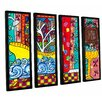 ArtWall 'Reflections' by Debra Purcell 4 Piece Framed Painting Print on Wrapped Canvas Set