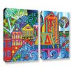 ArtWall Jump by Debra Purcell 2 Piece Painting Print on Wrapped Canvas Set