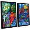 ArtWall 'The Watershed' by Debra Purcell 2 Piece Framed Painting Print on Canvas Set