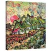 ArtWall ''Cottages Reminiscent of North'' by Vincent Van Gogh Painting Print on Canvas
