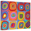ArtWall 'Interpretation of Farbstudie Quadrate by Wassily Kandinksy' by Susi Franco Graphic Art Canvas