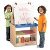 Jonti-Craft Marker Tray Double Sided Flipchart Easel
