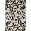 Filament  LLC Cinzia Off-White / Black Floral Area Rug
