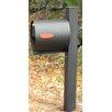Spira Mailbox Post Mounted Mailbox with Flat Cap