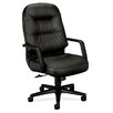HON Pillow-Soft High-Back Leather Executive Chair with Arms