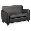 HON Basyx Tailored Leather Loveseat