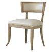 Global Views Klismos Cowhide Leather Side Chair
