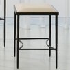 "Global Views Hammered 21.5"" Bar Stool with Cushion"
