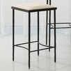 "Global Views Hammered 25"" Bar Stool with Cushion"