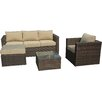 Manhattan Comfort Paisley 4 Piece Deep Seating Group with Cushion
